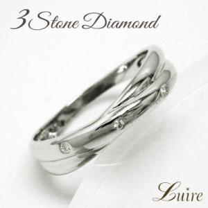 リング ダイヤリング トリロジー スリーストーン 天然ダイヤモンド Pt900 プラチナ 結婚指輪 ...
