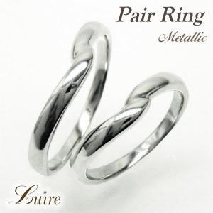 リング プラチナ900 ペアリング V字 地金 結婚指輪 PT900 マリッジリング シンプルリング luire-jewelry