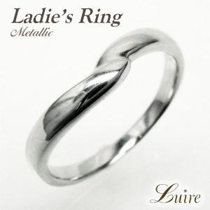 リング 結婚指輪 V字 シンプルリング マリッジリング K18ゴールド 指輪  k18WG/YG/PG luire-jewelry