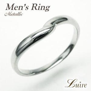 リング メンズリング シンプル 結婚指輪 V字 指輪 k18ゴールド マリッジリング k18WG/YG/PG luire-jewelry