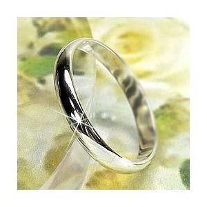 リング 結婚指輪 シンプルリング レディース マリッジリング K18ホワイトゴールド 甲丸 指輪|luire-jewelry