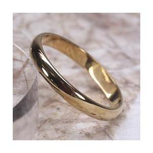 結婚指輪  k18 シンプルリング レディース マリッジリング K18ピンクゴールド 甲丸 指輪|luire-jewelry