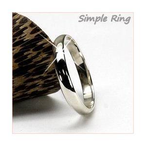 リング メンズリング シンプル 結婚指輪 マリッジリング Pt900プラチナ 甲丸 指輪|luire-jewelry