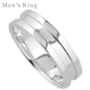 リング k18 メンズリング シンプル 地金 18金 結婚指輪 マリッジリング K18ホワイトゴールド 指輪|luire-jewelry