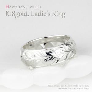 リング ハワイアンジュエリー レディース リング ハワイアン 18金 結婚指輪 マリッジリング k1...