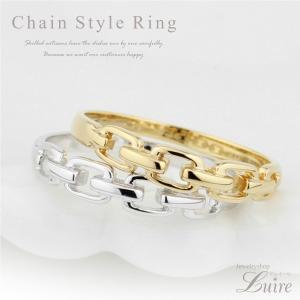 指輪 レディース チェーン風 地金指輪 透かし ピンキーリング ファランジリング ミディリング K18ゴールド K18WG/YG/PG 記念日 誕生日 プレゼント luire-jewelry