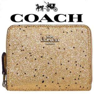 649a5eeb4b92 【送料無料】F38693 SV/GD COACH コーチ 財布 二つ折り財布 ゴールド スター グリッター スモールレディース アウトレット品