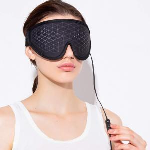 ホットアイマスク グラフェン 3D立体構造 USB 電熱式 軽量 安眠 (黒) アイマスク 3D 電...