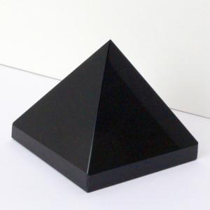 オニキス ピラミッド 原石 クラスター 黒縞瑪瑙 Pyram...