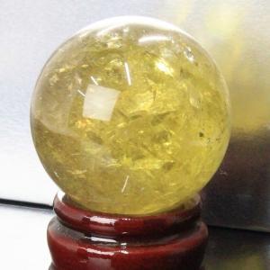 シトリン 丸玉 原石 citrine 黄水晶 水晶玉 パワーストーン【51mm玉】