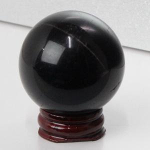 モリオン 丸玉 原石 morion 黒水晶 水晶玉 一点物【45mm】