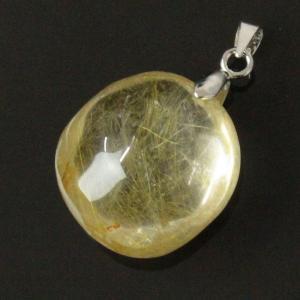 ルチルクォーツ ペンダント ネックレス quartz 原石 ...