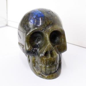 ラブラドライト ドクロ 原石 スカル labradorite 髑髏 天然石