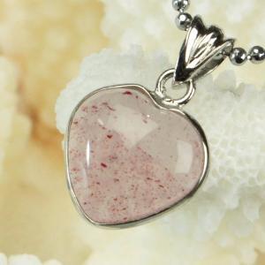 ストロベリークォーツ ペンダント ネックレス quartz 苺水晶 Pendant 天然石