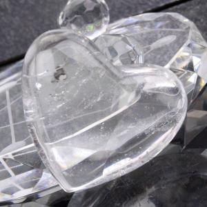 水晶 原石ハート クラスター quartz 天然石 Clus...