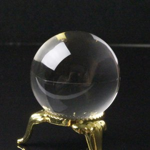 水晶玉 天然石 丸玉 crystal クォーツ Ball 天然石【完全透明水晶 35mm】