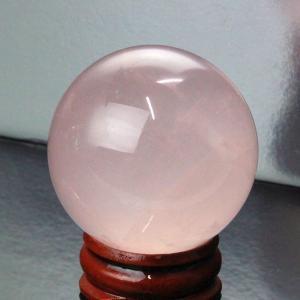 ローズクォーツ 丸玉 水晶玉 rose 紅水晶 原石 パワーストーン【42mm玉】