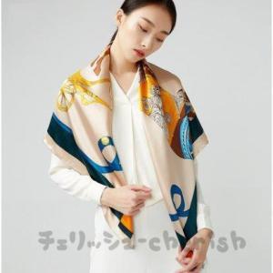 シルクスカーフ女性おしゃれファッション絹布大きいスカーフの杭州シルクマフラー母の日のプレゼント