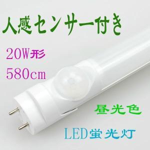 led蛍光灯 20w形 人感センサー 直管蛍光灯 led グロー式工事不要 昼光色 58cm