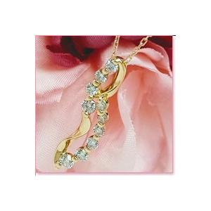 ダイヤモンドプチネックレス K18ピンクゴールド lumiere-j