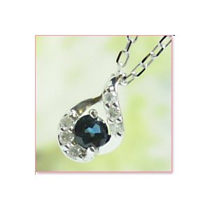 サファイヤ・ダイヤプチネックレス ホワイトゴールド|lumiere-j