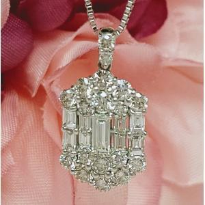ダイヤモンドプチネックレス プラチナ lumiere-j