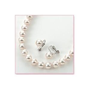 花珠真珠ネックレス・イヤリングセット(8mm×7.5mm珠)|lumiere-j