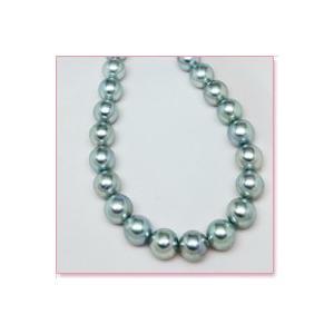 あこや真珠ネックレス・ブルー珠(8.0mm×8.5mm珠) lumiere-j