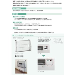 【インターセントラル】 パネルヒーター 自然対流式 定格電圧:1Φ200V 消費電力:1.75kw 寸法:W880×H500×D70 NZ-1750 lumiere10 03