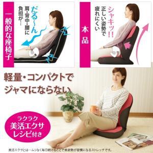 美姿勢習慣 ラズベリー 骨盤 クッション 座椅子 姿勢 座椅子|lunabeauty|06