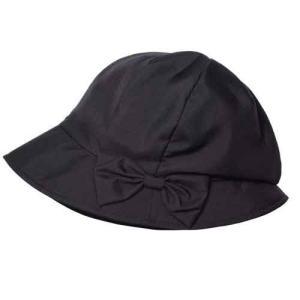 帽子 レディース 夏 UV おでかけ コンパクト 髪型ふんわり小顔UV帽子 ブラック|lunabeauty