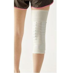 膝サポーター 歩行 補助 履くだけお膝しっかりサポーター 1枚 シロ LL|lunabeauty|02