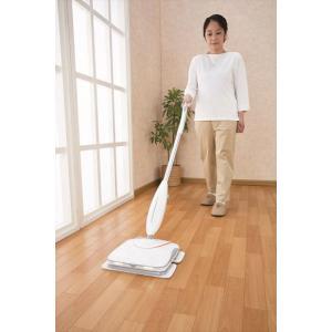 床掃除 フローリング モップ コードレス電動クリーナー ビートモップ ホワイト|lunabeauty