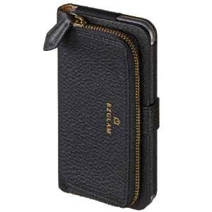 スマホケース iphone6s BZGLAMレザーコインカバーブラック iphone6sケース|lunabeauty