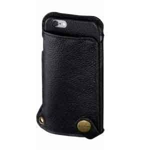 iphoneカバー 本革 スマホカバー iphone6/6s BZGLAMウェアラブルレザーカバー ブラック|lunabeauty