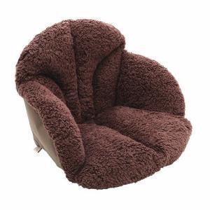 毛布 腰を包む座れる毛布 ダークブラウン 椅子用クッション|lunabeauty