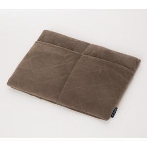 防寒 アルミの暖力 足ポケット付き低反発マット ブラウン あったか 冬|lunabeauty