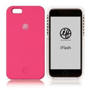 スマホケース iFlash セルフィーライトケース for iPhone6/6s ピンク 在庫処分 王様のブランチ 送料無料|lunabeauty