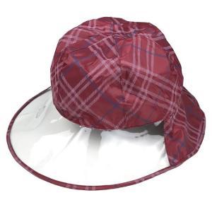 レインウェア 帽子 雨具 自転車 レインハット ワインチェック ネコポス発送 送料無料|lunabeauty