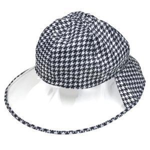 レインウェア 帽子 雨具 自転車 レインハット チドリ柄 ネコポス発送 送料無料 lunabeauty