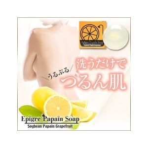 石鹸 エピグレパパインソープ 抑毛石鹸|lunabeauty