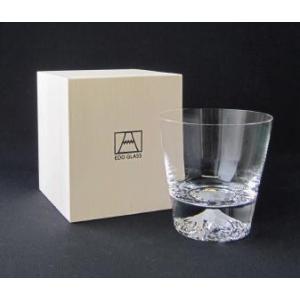 プレゼント ギフト 60代 70代 富士山グラス 田島硝子 ロックグラス 単品|lunabeauty