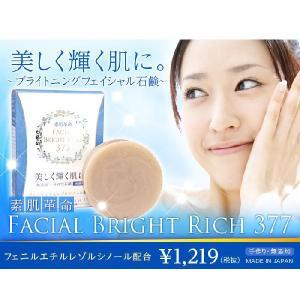 洗顔 石けん 泡 無添加 毛穴 素肌革命 フェイシャルブライトリッチ377|lunabeauty