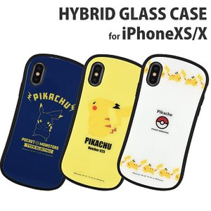 ポケットモンスター iPhoneXS/X対応ハイブリッドガラスケース ポケットモンスターデザインのi...