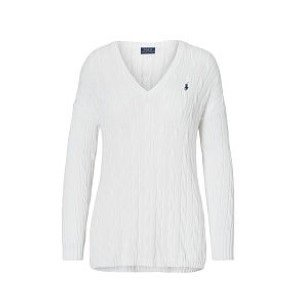 LADY'S(レディース) ピマコットンVネックセーター・WH