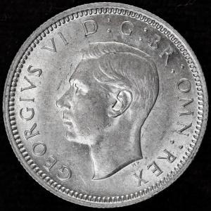 イギリス ジョージ6世 1945年 6ペンス銀貨|lunatrading