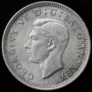 イギリス ジョージ6世 1946年 6ペンス銀貨|lunatrading