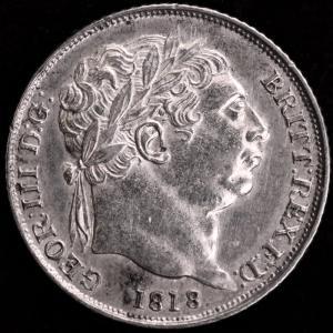 イギリス ジョージ3世 1818年 6ペンス銀貨|lunatrading