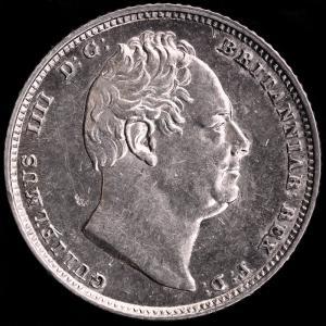 イギリス ウィリアム4世 1835年 6ペンス銀貨|lunatrading