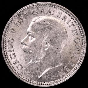 イギリス ジョージ5世 1926年 6ペンス銀貨|lunatrading